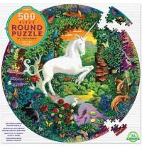 eeBoo - Puzzle Rund, Einhorn 500 Teile