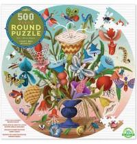 eeBoo - Puzzle Rund, Insektenstrauss 500 Teile