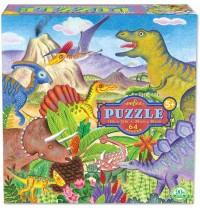 eeBoo - Puzzle, Dinosaurier 64 Teile