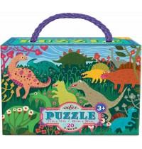 eeBoo - Puzzle, Dinosaurier 20 Teile