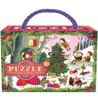 eeBoo - Puzzle, Weihnachten im Wald 20 Teile