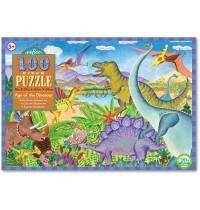 eeBoo - Puzzle, Dinosaurier 100 Teile