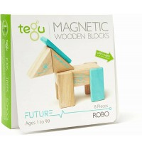 Tegu - Magnetisches Holzset Roboter 8 Teile