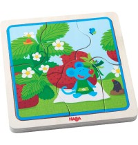HABA® - Holzpuzzle Erdbeermaus