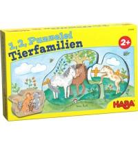 HABA® - 1, 2, Puzzelei Tierfamilien
