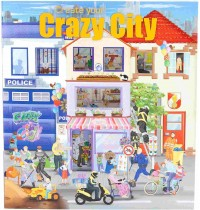 Depesche - Create your Crazy City Malbuch mit Stickern