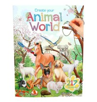 Depesche - Create Your Animal World Malbuch mit Stickern