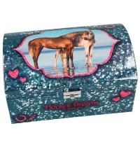 Depesche - Horses Dreams Schmuckkästchen mit Geheimfach, blau