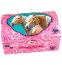 Depesche - Horses Dreams Schmuckkästchen mit Geheimfach, pink