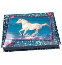 Depesche - Horses Dreams Schreibwarenbox, Motiv 1 blau