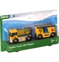 BRIO Bahn - Tankwagen mit Anhänger