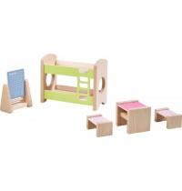 HABA® - Little Friends - Puppenhaus-Möbel Kinderzimmer für Geschwister