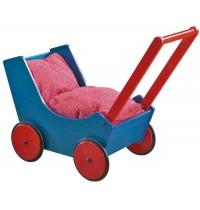 HABA® - Puppenwagen, blau/rot