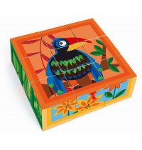 Scratch - Würfelpuzzle Dschungel 9 Würfel
