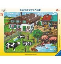 Ravensburger Puzzle - Rahmenpuzzle - Tierfamilien, 33 Teile