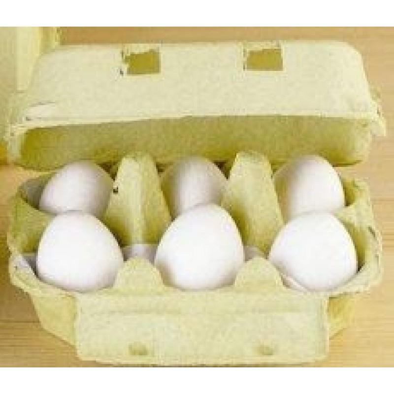 Eier, weiß (6er-Pack)