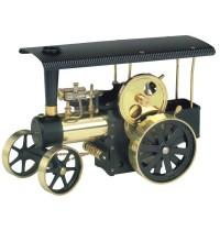Wilesco D 406 - Dampftraktor schwarz/messing