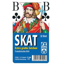 Ravensburger Spiel - Skat - Französisches Bild - Extragroße Eckzeichen