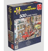 Jumbo Spiele - Puzzle - Jan van Haarsteren - Feueralarm, 500 Teile