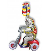 Wilesco Blechspielzeug - Elefant mit Motorroller