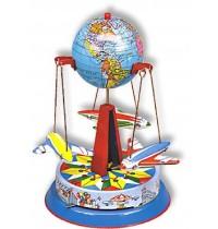 Wilesco Blechspielzeug - Globus-Karussell mit drei Fliegern