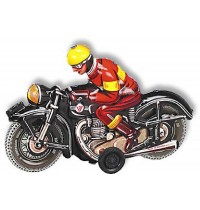 Wilesco Blechspielzeug - Motorrad, schwarz