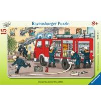 Ravensburger Puzzle - Rahmenpuzzle - Mein Feuerwehrauto, 15 Teile