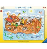 Ravensburger Puzzle - Rahmenpuzzle - Die große Arche Noah, 48 Teile