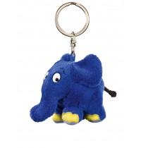 Schmidt Spiele Plüsch - Sendung mit der Maus - Schlüsselanhänger Elefant, 9cm