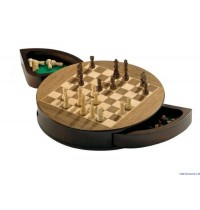Philos - Schachkassette, rund, magnetisch, Feld 25 mm