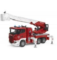 BRUDER - Scania R-Serie Feuerwehrleiterwagen, Wasserpumpe + L&S Module