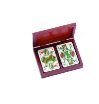 Rommé-Karten, in Kartenbox