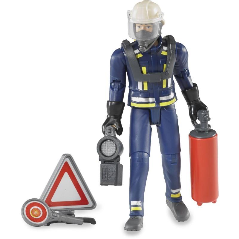 Bruder Bworld Figurenset Feuerwehrmann Mit Atemschutzausrüstung