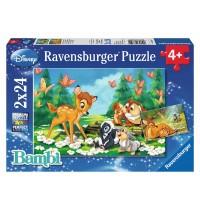 Ravensburger Puzzle - Mein Freund Bambi, 2x24 Teile