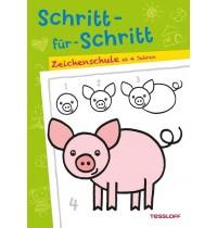 Tessloff - Malen, Rätseln & mehr - Schritt-für-Schritt Zeichenschule, ab 4 Jahren