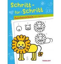Tessloff - Malen, Rätseln & mehr - Schritt-für-Schritt Zeichenschule, ab 6 Jahren