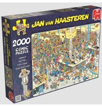 Jumbo Spiele - Jan van Haarsteren - Massen an den Kassen, 2000 Teile