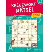 Tessloff - Malen, Rätseln & mehr - Kreuzworträtsel - Rätselspaß für Kinder (blau)