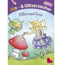 Tessloff - Malen, Rätseln & mehr - Mal- & Glitzerzauber. Elfen und Feen