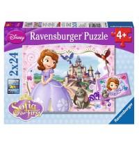 Ravensburger Puzzle - Sofias königliche Abenteuer, 2x24 Teile
