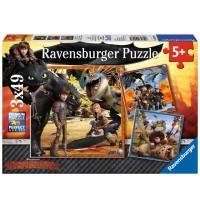 Ravensburger Puzzle - Drachenreiter, 3x49 Teile