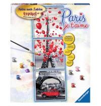 Ravensburger Spiel - Malen nach Zahlen Trend - Paris, je t aime