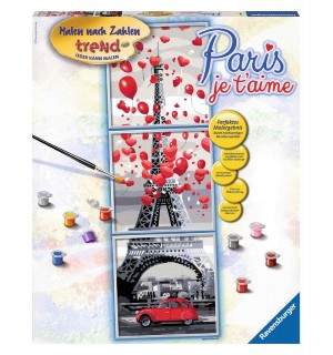 Ravensburger Spiel Malen Nach Zahlen Trend Paris Je T Aime