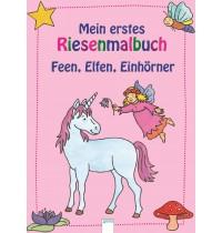 Arena Verlag - Mein erstes Riesenmalbuch - Feen, Elfen, Einhörner