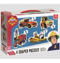 Jumbo Spiele - Feuerwehrmann Sam - Konturenpuzzle,8/10/12/14 Teile