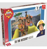 Jumbo Spiele - Feuerwehrmann Sam - Puzzlesortiment, 4 x 35 Teile