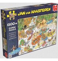 Jumbo Spiele - Jan van Haarsteren - Englischer Titel Beach, 1500 Teile