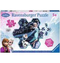 Ravensburger Puzzle - Frozen - Die Eiskönigin - Elsas Schneeflocke, 73 Teile
