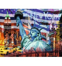 Ravensburger Puzzle - New York Collage, 2000 Teile