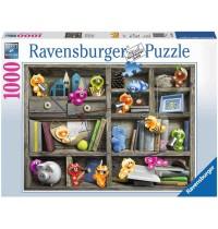 Ravensburger Puzzle - Gelini im Bücherregal, 1000 Teile
